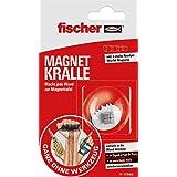 fischer Magnetische klauw, snelle bevestiging zonder boren, met extra sterke supermagneet (neodym), herbruikbaar, voor magnet