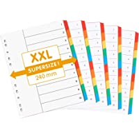perfect line 5 pièces, 10 intercalaires DIN-A4 EXTRA LARGE, couleur avec page de garde (5x10), 24 x 29,7 cm, XXL…