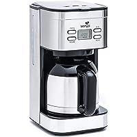 Senya cafetière électrique programmable Inox Hot Coffee, verseuse isotherme en acier inoxydable, fonction sélecteur d…