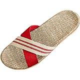 Bverionant Zapatillas de Estar por Casa de Lino, Slippers para Verano, Zapatillas Interior Sandalias Unisex, Pantuflas Casa p