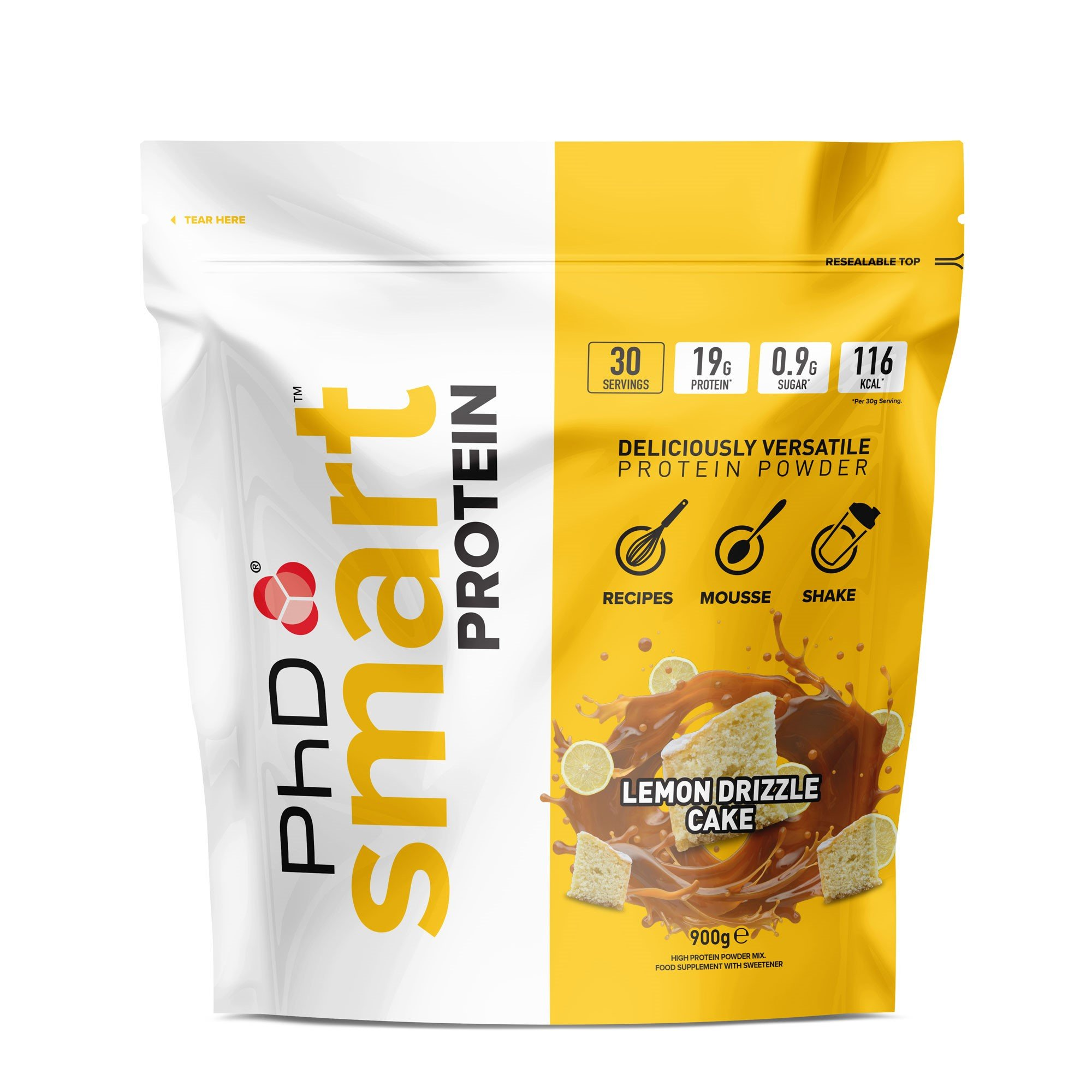 PhD Smart Protein Lemon Drizzle Cake – 900 gr