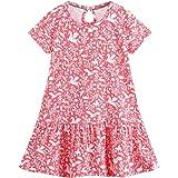 Neband Girl's Casual Dress Playwear Basic Tunic Skirt Cute Applique Pattern Outfits