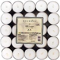 Cocod'or Tealight Candles 25pcs, Fiore di Cotone, 4-5 Hour Burm Time, Candele profumate