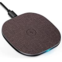 LUXSURE Wireless Charger Qi Ladestation Kabelloses Schnellladestation, Qi Ladestation für iPhone 12/11/11 Pro/X…