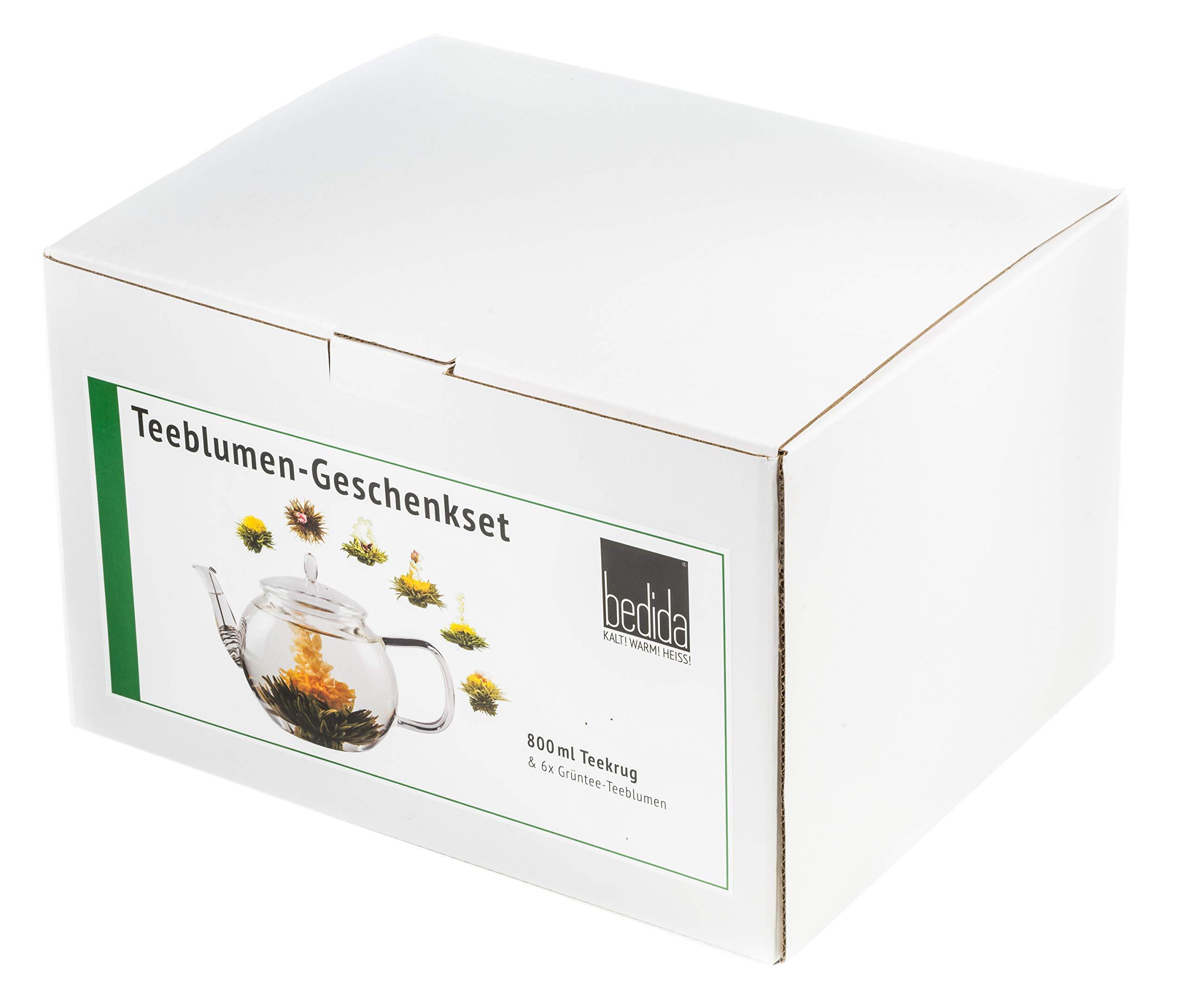 800FG-GRNTEE-TEEBLUMEN-GESCHENKSET-800ML-TEEKANNE-6x-GRNTEE-TEEROSENgrner-Erblhtee-Teerosenals-Geschenk-zum-MUTTERTAG-by-Feelino