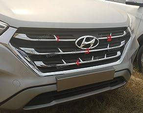 VAIBN- Superior Quality Original Type Front Chrome Grill Strips Hyundai Creta 2018