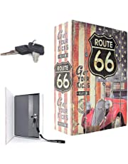 Iktu Jumbo XXL Book Safe Book Style Money Cash Locker Jewelry Home Safe Box - Random Print (26.5x20x6.5 cm)