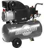 Mercure 425063 Compresseur 24 L 2 hp mercure Gris