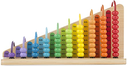Melissa and Doug Educational Toy - Add and Subtract Abacus, Multi Color