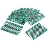 Placa de prototipos de 10 piezas, placa de rejilla lateral doble de 4 × 6 cm Accesorios para proyectos electrónicos de soldad