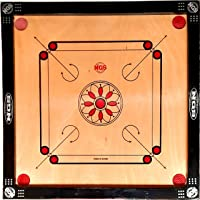NGS Full Size 32'inch Waterproof Carrom Board with Free Carrom Coin Set, Striker, Carrom Powder