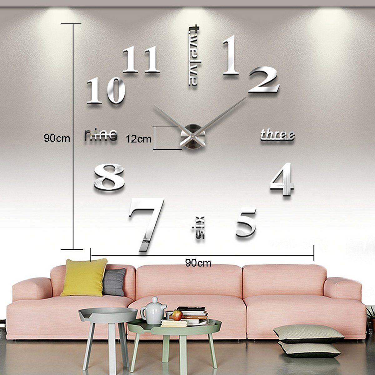 Zuwit contemporary diy modern 3d frameless wall large clock 40 zuwit contemporary diy modern 3d frameless wall large clock 40 awesome self design wall clock roman numeral black amazon office products amipublicfo Gallery
