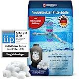 Veddelholzer Pool Filter Balls - le matériau le plus léger pour la meilleure performance - remplace 25 kg de sable filtrant s