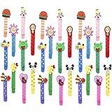 Animali Segnalibro Coloratissimi 30 pezzi, Annhao bambini in legno idea, Bambini Fumetto Colorati Carini Divertenti in Legno
