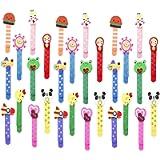 Animali Segnalibro Coloratissimi 30 pezzi, Annhao bambini in legno idea, Bambini Fumetto Colorati Carini Divertenti in…