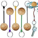 Yueser Flytande kork nyckelringar, 6 delar nyckelring flytrep kanot nyckel flytande nyckelring för simning dykning fiske kano