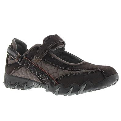 Shoes Outlet - Allrounder Niro Diamonds Black Womens Suede Sandals