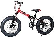 Aster Folding Fat Bike - Red Black