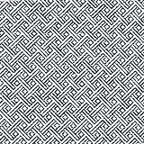 McAlister Textiles Black&White Kollektion | Stoff im geometrischen Monterrey-Muster 140cm Breite | per Meter | Heimtextil Material für Ethno-look