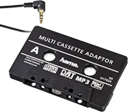 Hama KFZ-Kassettenadapter (Smartphones/MP3-/CD-Player/iPod/Tablets am Autoradio, Tape mit 3,5 mm Klinkenstecker, Stereo) schwarz
