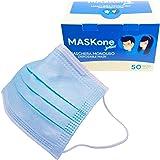 MaskOne Junior - Mascarillas quirúrgicas desechables - Empaquetado individualmente - Certificación CE Paquete de 50 piezas -