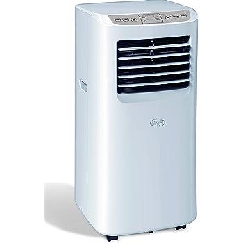 Argoclima Swan Climatizzatore Portatile, Display a LED, Telecomando, Timer 24 Ore, Due Velocità, Filtro dell'Aria Lavabile, 8000 btu/h, Bianco Puro
