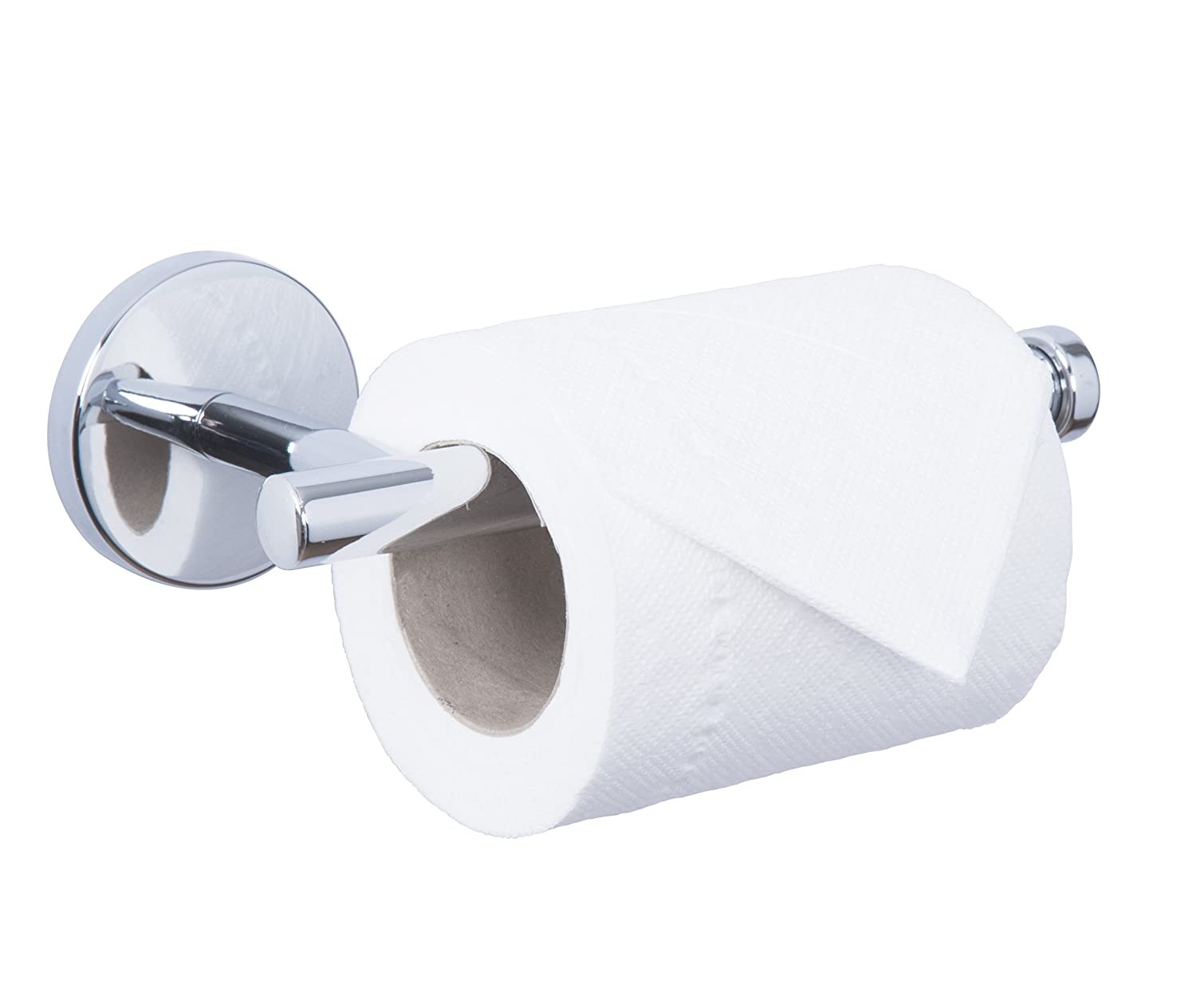 croydex hampstead wall mounted toilet roll holder with zinc alloy chrome amazoncouk kitchen u0026 home