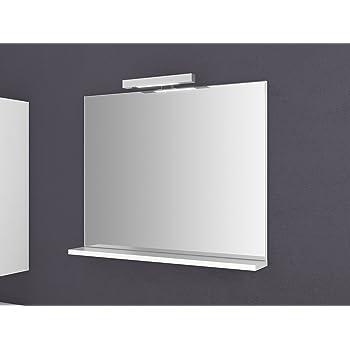 Roller Badspiegel.Spiegel Mit Ablage Girona 60 Und 80 Cm Breit Beleuchtung Wandspiegel