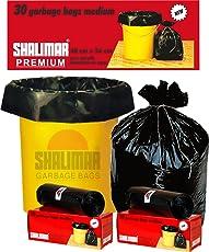 Shalimar Premium Garbage Bags (Medium) Size 48 cm x 56 cm 6 Rolls (180 Bags) (Black Colour)