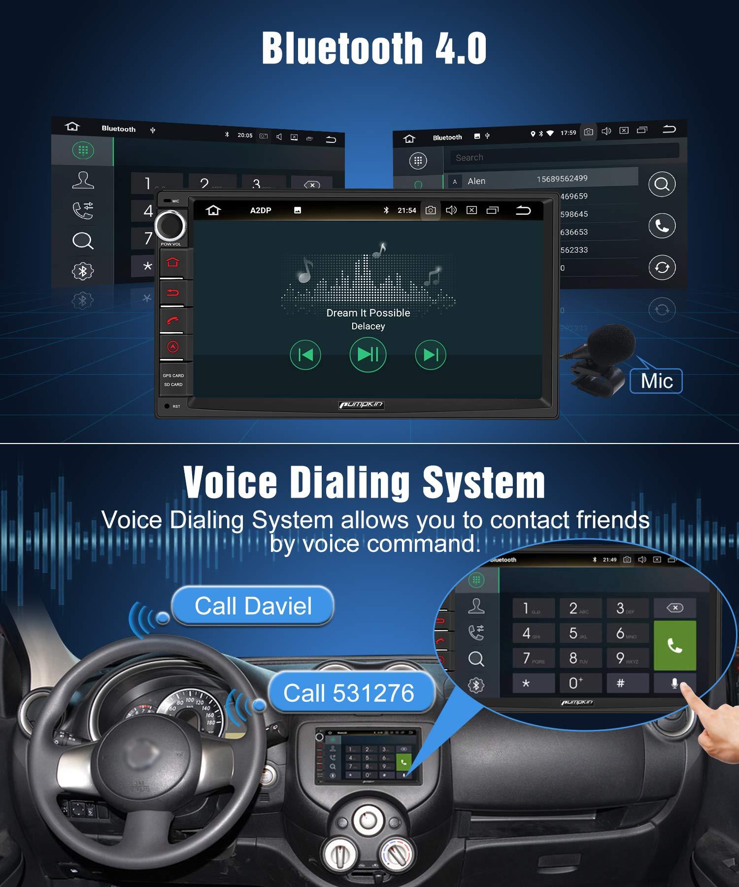 PUMPKIN-Android-90-Autoradio-Moniceiver-mit-Navi-Untersttzt-Bluetooth-DAB-Android-Auto-WiFi-4G-USB-MicroSD-2-Din-7-Zoll-Bildschirm