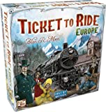 Ukking Ticket to Ride Europe Family Entertainment Board Game,Card Game(Multicolor)
