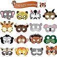 16 Piezas Máscaras de Animal Favores de Fiesta de Disfraz de Animal con 16 Caras de Animales Diferentes para Fiesta Temática