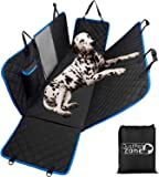Dog Hammock for Car Back seat with Mesh Visual Window, Side Flaps with Zipper, Padded 4 Layers Heavy Duty Dog Hammock with Storage Bag, Scratch Proof Nonslip Pet Car Seat Cover.