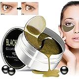 30 Paires / 60 Pcs Masque pour les Yeux au Collagène Perle Noire Soins Anti-âge pour le Visage Masque