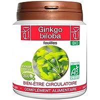 Ginkgo biloba BIO   200 gélules   Bien Être Circulatoire   250 mg dosage 100% naturel sans additif et non comprimé   EKI LIBRE