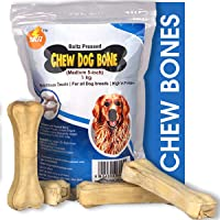 Boltz Rawhide Pressed Dog Chew Bone ,5 Inch Size (1 KG) - Made in India