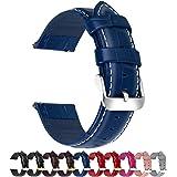 Fullmosa Cinturino 20mm Orologio, Bambu Cinturini in Pelle, Compatible con Amazfit Bip/Bip Lite, Amazfit GTS/GTR 42mm, Huawei