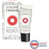 vitayes, Instant ageback, Lifting Creme (15ml) – glatte Haut in nur 5 Minuten. Eine innovative Lösung aus Deutschland gegen Falten, schlaffe Haut und Tränensäcke.