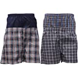 KB Tradax Men's 100% Cotton Boxers Pack of 3, 6, 9, 12, Soft Fitted Woven Boxer, Classic Fit Underwear, Comfortable Boxer Sho