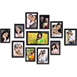 Amazon Brand - Solimo Collage Photo Frames, Set of 11,Wall Hanging (5 pcs - 4x6 inch, 5 pcs - 5x7 inch, 1 pc - 6x10 inch), Bl
