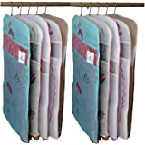 Kuber Industries 10 Piece Non Woven Hanging Saree Cover Set