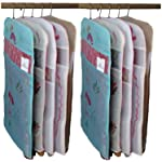 Kuber Industries Transparent Kota Doria Hanging Saree Cover - Set of 10 Pcs