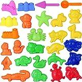 Toyvian Moule de Jouet de Plage Moulage de Sable pour Enfants Summer Beach Toys Set de Sable Set avec Castle Animal moules à