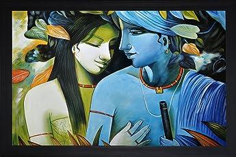 SAF Radha Krishna Religious painting (35 x 2 x 50 Cms)