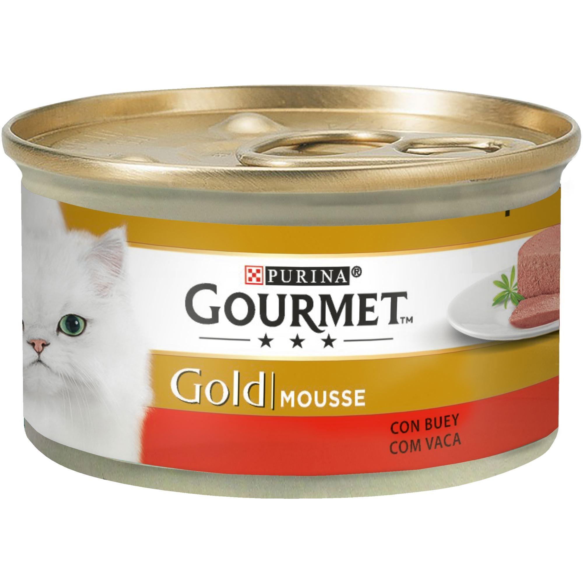 Purina Gourmet Gold Mousse comida para gatos de Pescado del Oceano 85 g