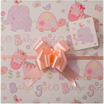 Baby Girl Gift Wrap Pack High Quality Baby Girl Gift Wrap Two