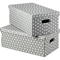 Compactor Star Boîte de rangement, Gris, 40 x 31 x H 21 cm, RAN7054