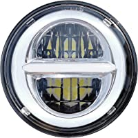 Entatial Faro per Moto Faro a LED 1 Faro Rotondo 50W 7 Pollici LED Halo Light per Moto