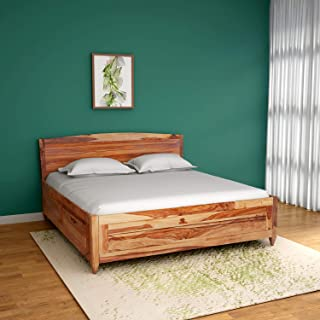 GODREJ INTERIO Centaurus Solid Wood King Size Bed with Storage  Matte Finish, Natural
