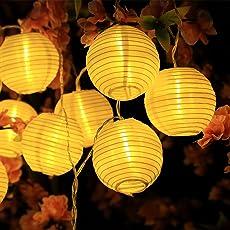 InnooLight Solar Lichterkette Lampions 20LEDs Warmweiß Garten lichterkette Wasserdicht 3,3M Außerlichterkette Deko für Garten, Bäume, Terrasse …